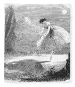 Ballet: Ondine, 1843 Fleece Blanket