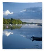 Ballina, Co Mayo, Ireland Morning Fleece Blanket