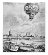Balloon Flight, 1783 Fleece Blanket