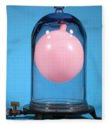 Balloon In A Vacuum, 3 Of 4 Fleece Blanket