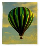 Balloon Ride Through Gold Clouds Fleece Blanket