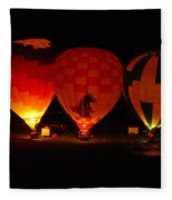 Balloons At Night Fleece Blanket