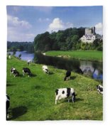 Ballyhooley, Co Cork, Ireland Friesian Fleece Blanket