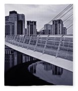 Baltic And Gateshead Millennium Bridge Fleece Blanket