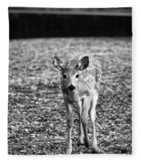 Bambi In Black And White Fleece Blanket
