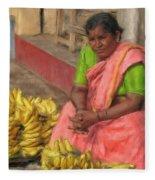 Banana Seller Fleece Blanket
