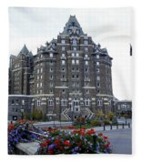 Banff Springs Hotel In The Canadian Rocky Mountains Fleece Blanket