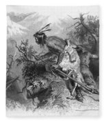 Banknote: Native American Attack Fleece Blanket