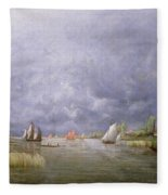 Banks Of The Loire In Spring Fleece Blanket