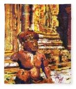 Banteay Srei Statue Fleece Blanket