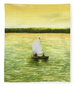 Bar Harbor Sailboat Fleece Blanket