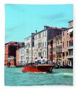 Barca Di Venezia Fleece Blanket