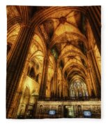 Barcelona Cathedral  Fleece Blanket