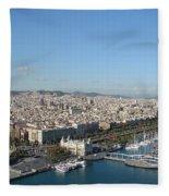 Barcelona View 2 Fleece Blanket
