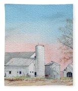 Barn And Sycamore Fleece Blanket