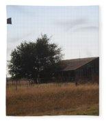 Barn And Windmill Fleece Blanket