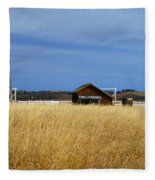 Barn And Windmill Stand Fleece Blanket