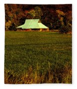 Barn In The Style Of The 60s Fleece Blanket