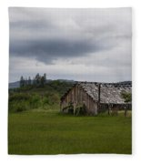 Barn Near Shady Cove Fleece Blanket