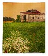 Barn On Rt. 134 Highland Co Fleece Blanket