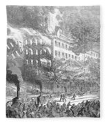 Barnums Museum Fire, 1865 Fleece Blanket