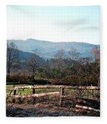 Barnyard In The Morning Fleece Blanket