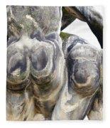 Baroque Statue - Detail - Backside Fleece Blanket