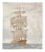 Barque And Tug Fleece Blanket