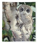 Barred Owl II Fleece Blanket