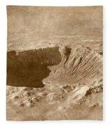 Barringer Crater Fleece Blanket