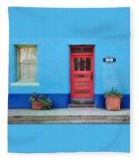 Barrio Door Pink Fleece Blanket