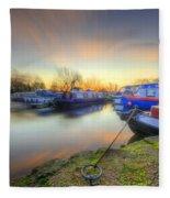 Barrow Sunrise In Motion 2.0 Fleece Blanket