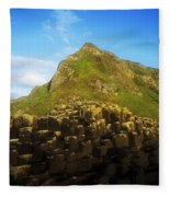 Basalt Rock Formations Near A Mountain Fleece Blanket