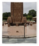 Base Of The Jallianwala Bagh Memorial In Amritsar Fleece Blanket