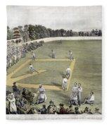 Baseball, 1866 Fleece Blanket