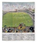Baseball, 1887 Fleece Blanket