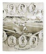 Baseball, 1895 Fleece Blanket