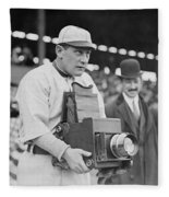Baseball: Camera, C1911 Fleece Blanket