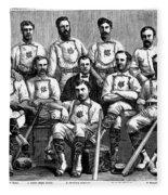 Baseball: Canada, 1874 Fleece Blanket
