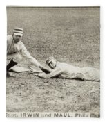 Baseball Game, C1887 Fleece Blanket