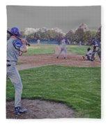 Baseball On Deck Digital Art Fleece Blanket