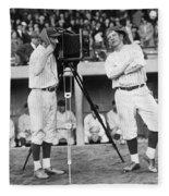 Baseball Players, 1920s Fleece Blanket