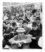 Baseball: Playoff, 1908 Fleece Blanket
