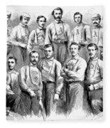 Baseball Teams, 1866 Fleece Blanket