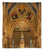 Basilica Of The Sacred Heart Fleece Blanket