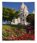 Basilique Du Sacre Coeur Fleece Blanket