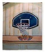 Basketball Hoop Sketchbook Project Down My Street Fleece Blanket