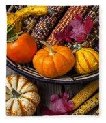 Basketful Of Autumn Fleece Blanket