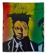 Basquait Me Myself And I Fleece Blanket