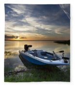 Bass Fishin' Evening Fleece Blanket